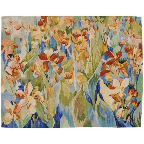 Hand Woven Abusson Floral Wall Tapestry