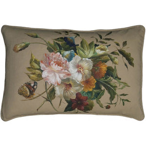 Hand Painted Linen Cushion,throw pillow,Adley & Company Inc.