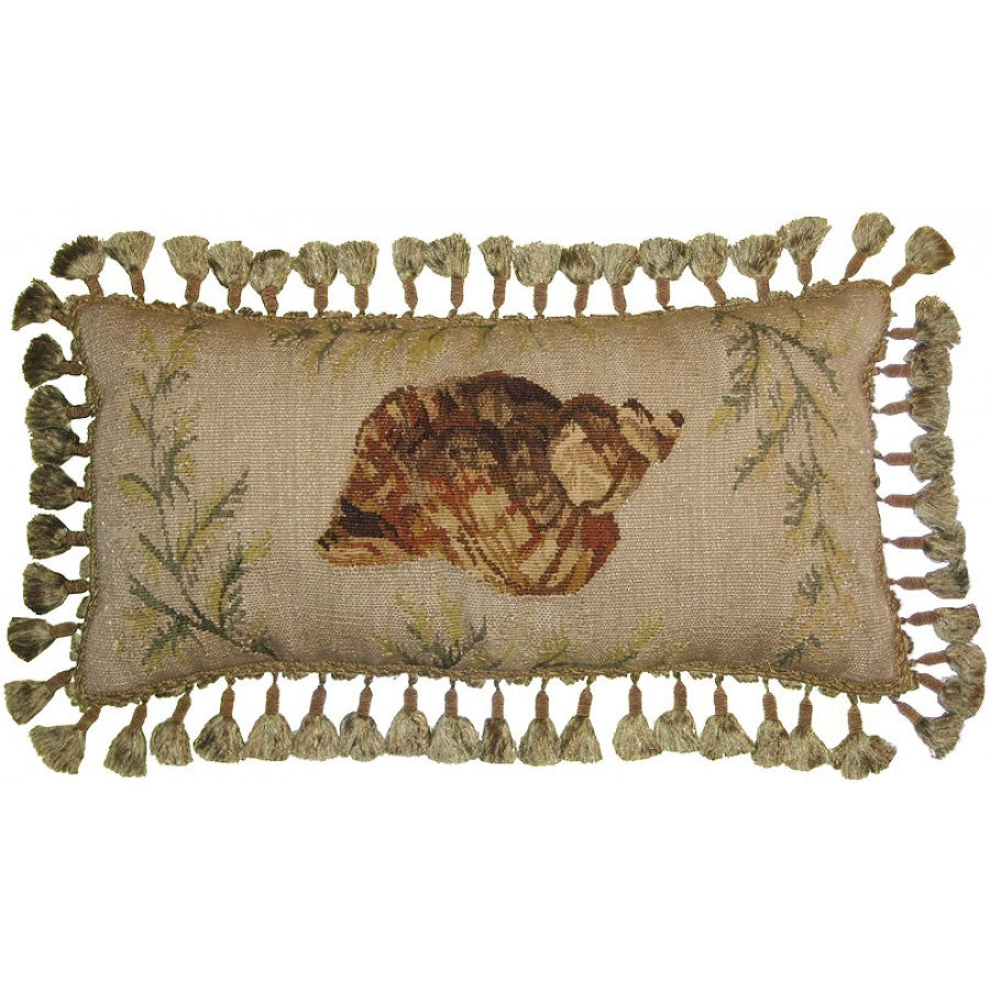 Sea Shell Aubusson Down Filled Cushion,throw pillow,Adley & Company Inc.