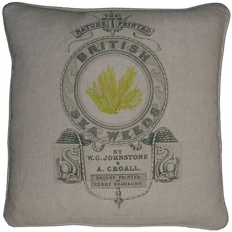 Linen Throw Pillow with Feather Down Insert