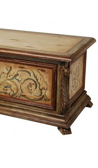 Hand Painted Wood Bench with Storage,storage trunk,Adley & Company Inc.