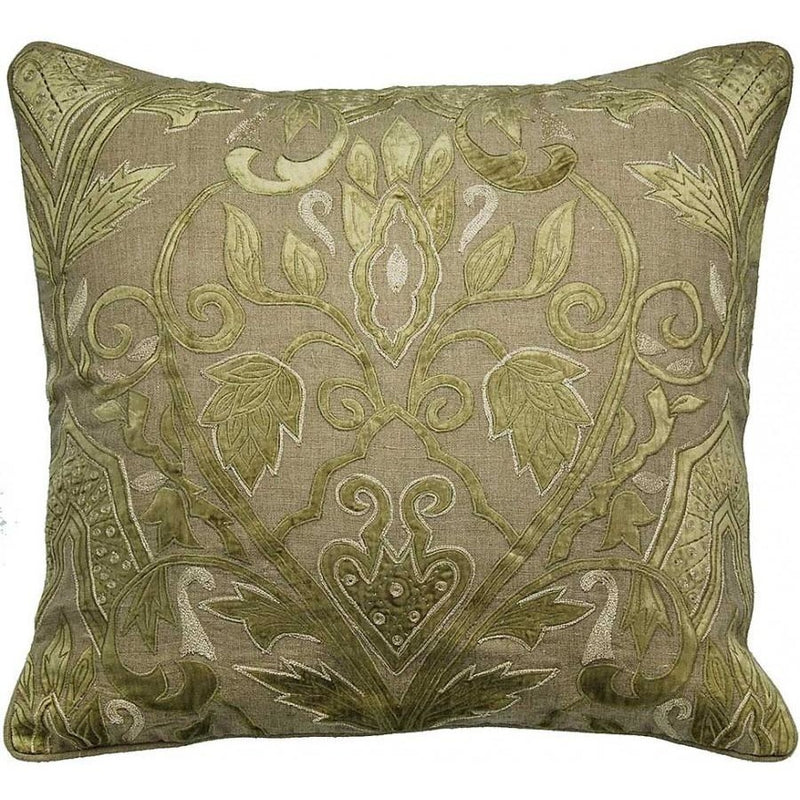 Golden Velvet Applique Accent Pillow,accent pillow,Adley & Company Inc.