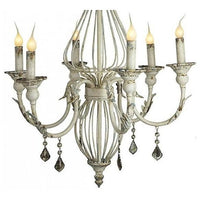Shabby Chic Metal Chandelier,chandelier,Adley & Company Inc.