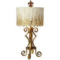 Fleur de Lis Metal Antiqued Table Lamp,lamp,Adley & Company Inc.