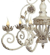 Antique Style White & Gold Metal Chandelier,chandelier,Adley & Company Inc.