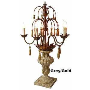 Carved Wood Antique Style Candelabra,candelabra,Adley & Company Inc.
