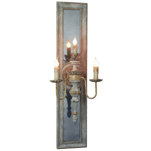 Dumas Sconce Light with Antiqued Mirror Back