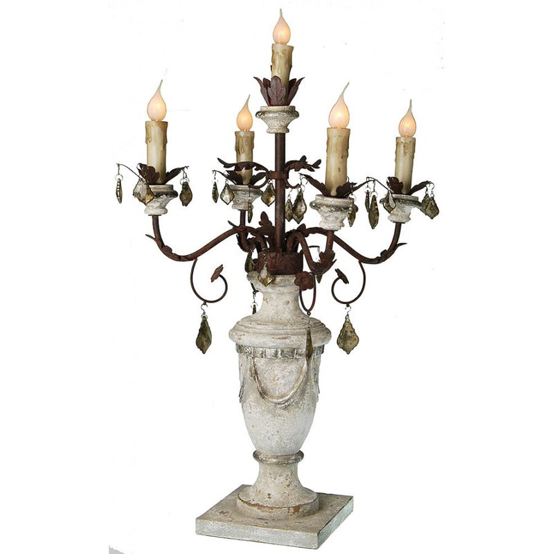 Antique Style Table Candelabra Lamp,candelabra,Adley & Company Inc.