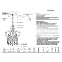 Hand Carved Wood & Crystal Crown Chandelier,chandelier,Adley & Company Inc.