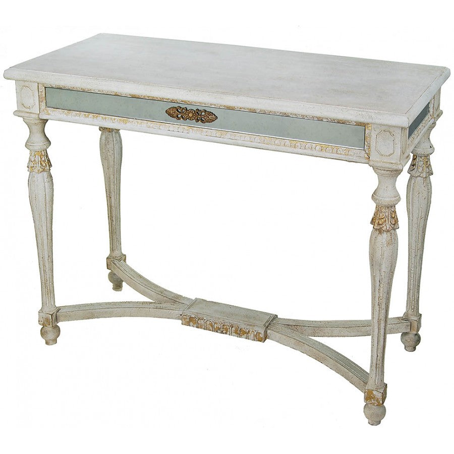 Antique Style Console Table with Gold and Blue,console table,Adley & Company Inc.