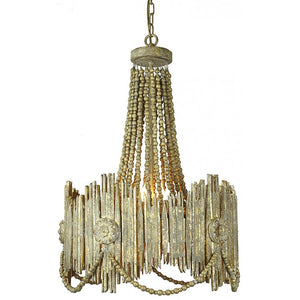 Antiqued Gold Wood Carved Chandelier,chandelier,Adley & Company Inc.