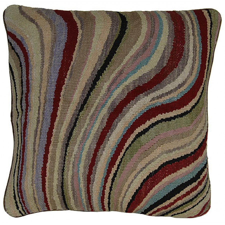 Contemporary Waves Aubusson Luxury Cushion,accent pillow,Adley & Company Inc.