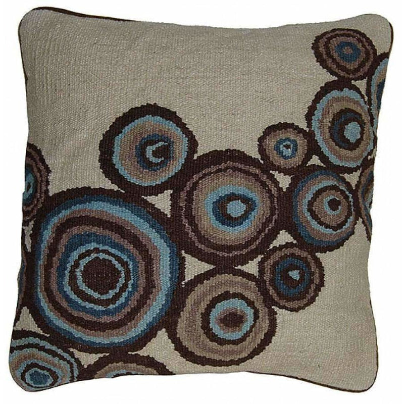 Hand Woven Aubusson Throw Pillow,throw pillow,Adley & Company Inc.