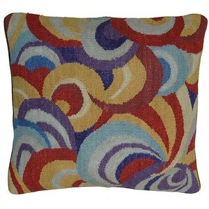 Aubusson Hand Woven Tapestry Accent Cushion,throw pillow,Adley & Company Inc.