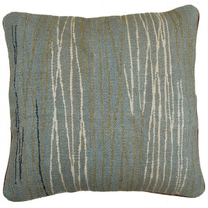 Hand Woven Striped Aubusson Cushion,accent pillow,Adley & Company Inc.