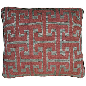 Greek Key Aubusson Hand Woven Accent Cushion,throw pillow,Adley & Company Inc.