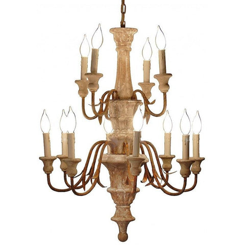 Antique Style Carved Chandelier