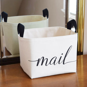 Canvas Storage Bin for Mail,canvas bin,Adley & Company Inc.