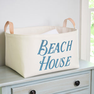 Beach House Canvas Storage Bin Organizer,hamper,Adley & Company Inc.