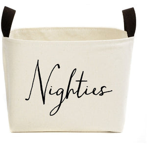 Nighties Canvas Storage Box,storage box,Adley & Company Inc.