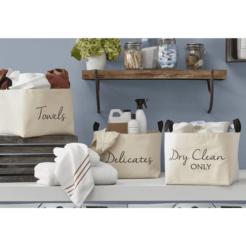 Delicates Canvas Storage Box Organizer,hamper,Adley & Company Inc.
