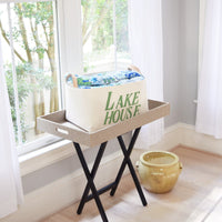 Lake House Canvas Storage Bin Organizer,hamper,Adley & Company Inc.
