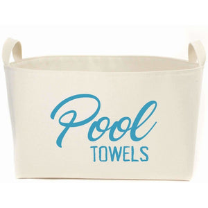 Pool Towels Canvas Storage Box,storage box,Adley & Company Inc.