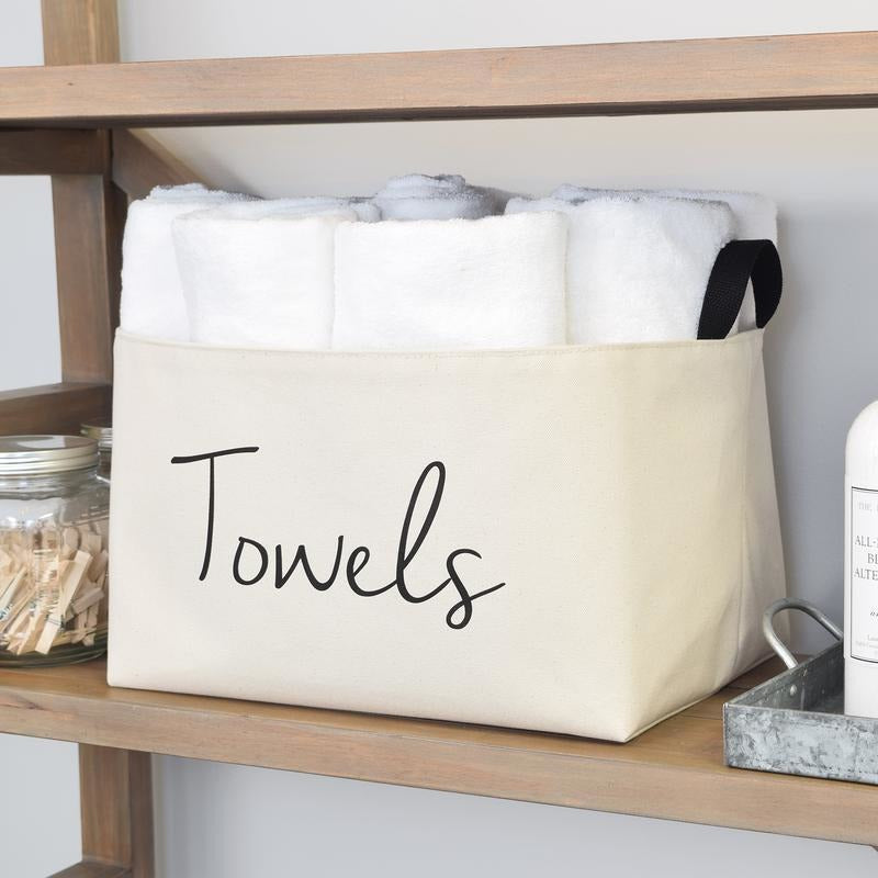 Canvas Towel Storage Box,storage box,Adley & Company Inc.