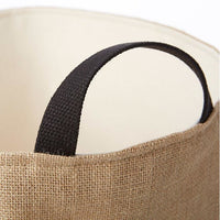 Personalized Burlap Storage Box,hamper,Adley & Company Inc.