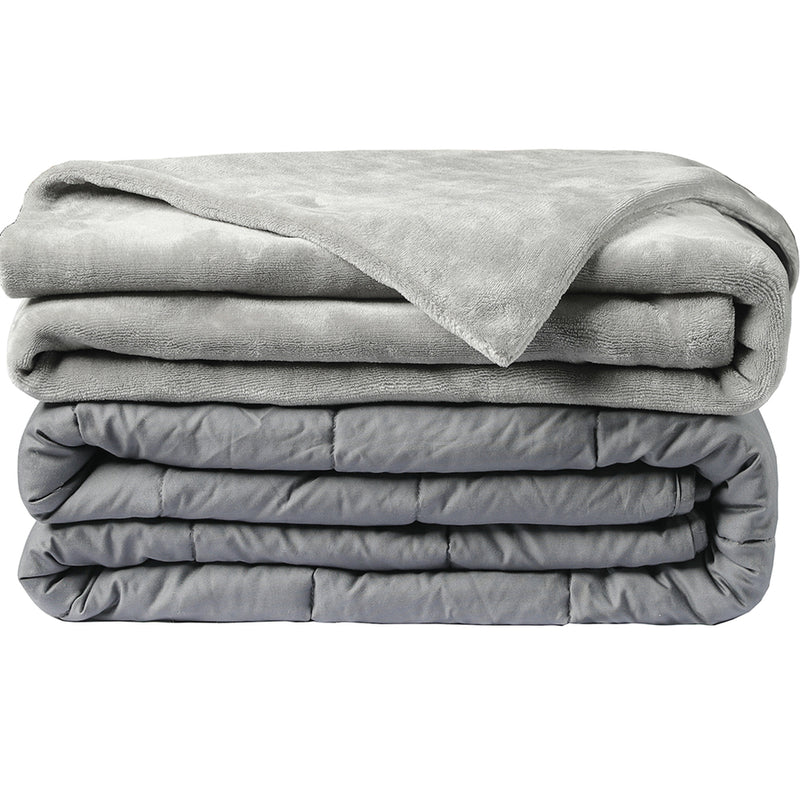 Soft Velvet Grey Weighted Blanket,blanket,Adley & Company Inc.