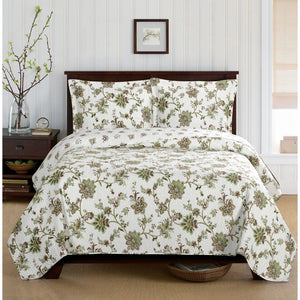 Quilted Floral Bedspread Set,bedspread,Adley & Company Inc.