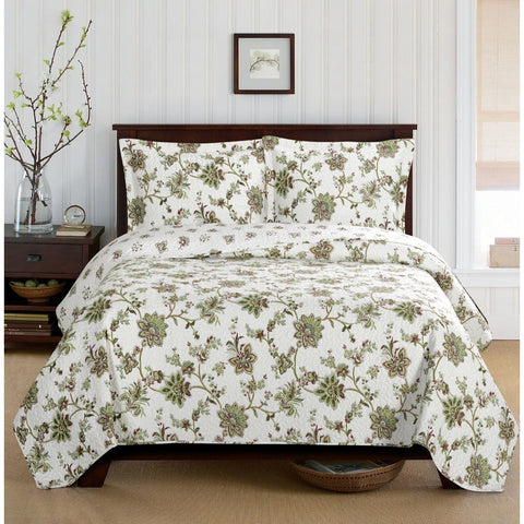 Quilted Floral Bedspread Set - Adley & Company bedspread, Adley & Company Inc., Adley & Company Inc.