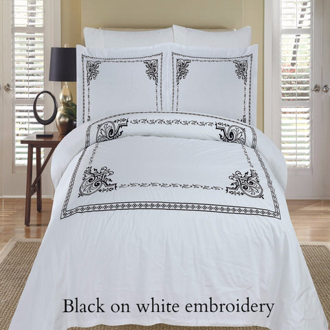 Classic Embroidered Duvet Cover Set