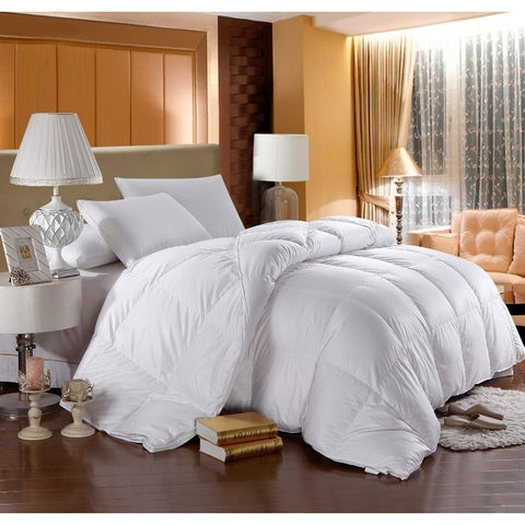 500 Thread Count White Goose Down Filled Duvet Comforter - Adley & Company down duvet, Adley & Company Inc., Adley & Company Inc.