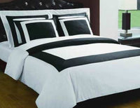 Multi Piece Black and White Duvet Cover Set