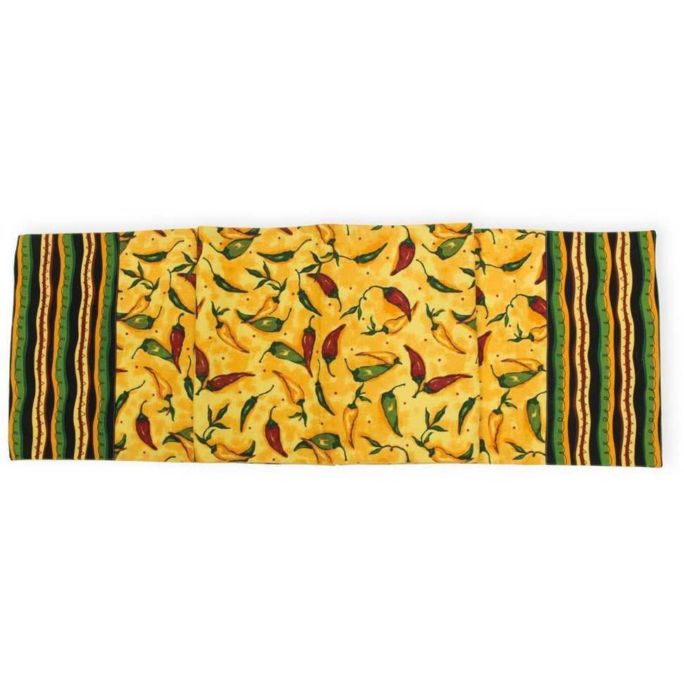 Pepper Print Fiesta Table Runner,table runner,Adley & Company Inc.
