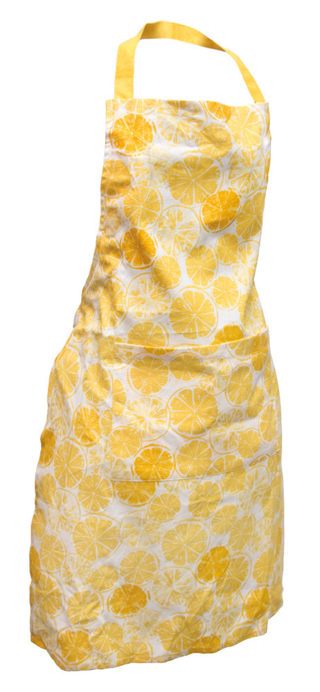 Bright Yellow Lemon Print Apron,apron,Adley & Company Inc.