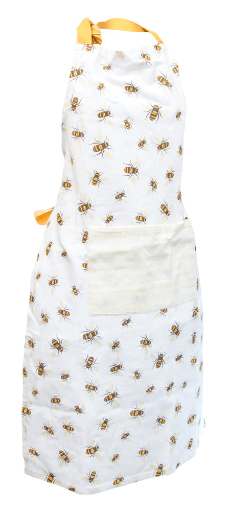 Bee Print Cotton Apron,apron,Adley & Company Inc.