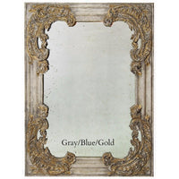 Carved Wood Rectangle Wall Mirror,mirror,Adley & Company Inc.