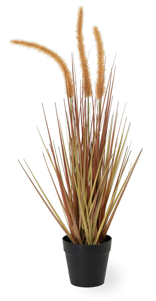 Artificial Dogtail Grass Plant, Set of 4
