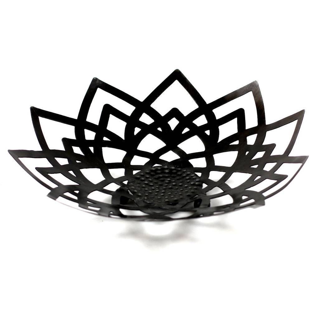 Fair Trade Metal Lotus Bowl