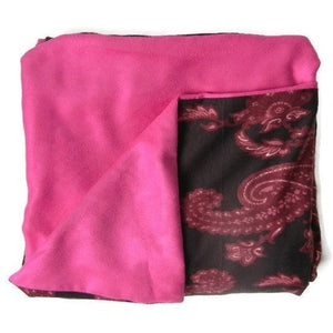 Pink Paisley Cozy Throw Blanket,throw blanket,Adley & Company Inc.