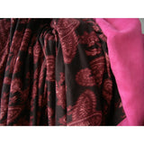 Pink Paisley & Faux Suede Throw Blanket