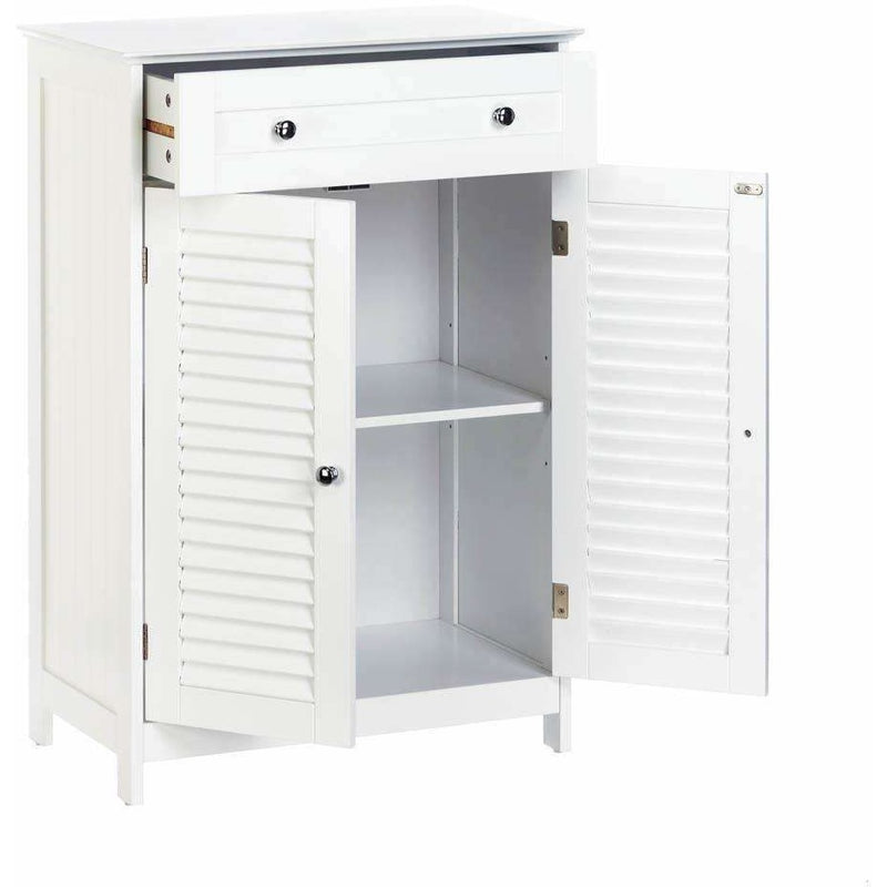 Nantucket White Storage Cabinet or Bedside Table,bedside table,Adley & Company Inc.