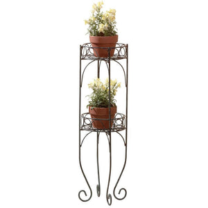 Wrought Iron Plant Stand,plant stand,Adley & Company Inc.