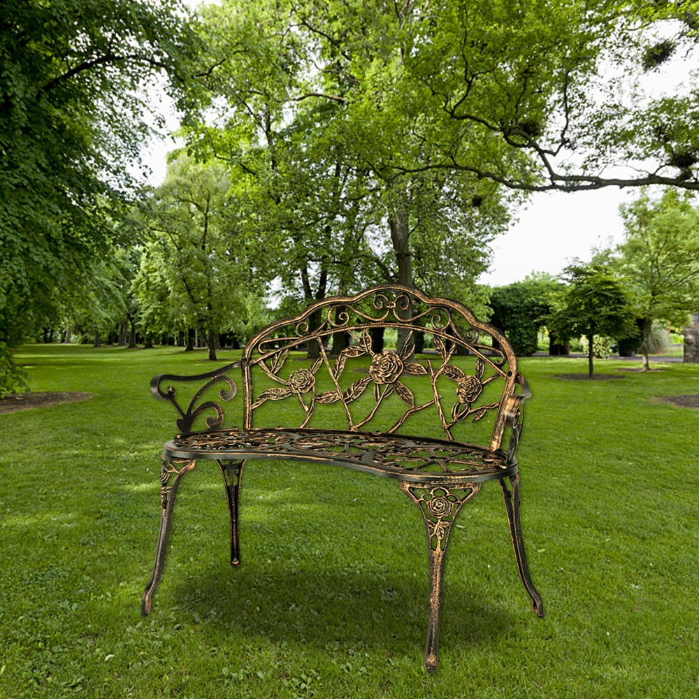 Iron Metal Outdoor Bench