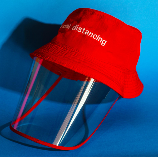 SOCIAL DISTANCING - Red Bucket Hat