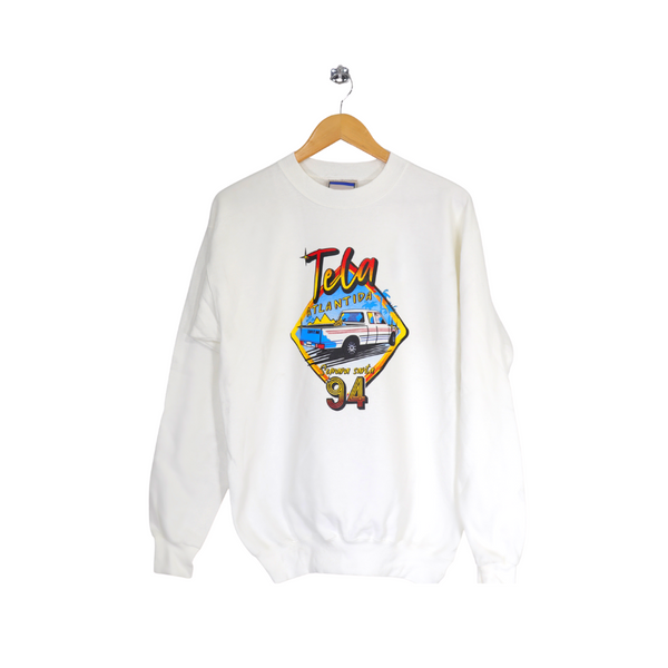 TELA 94 White Sweatshirt