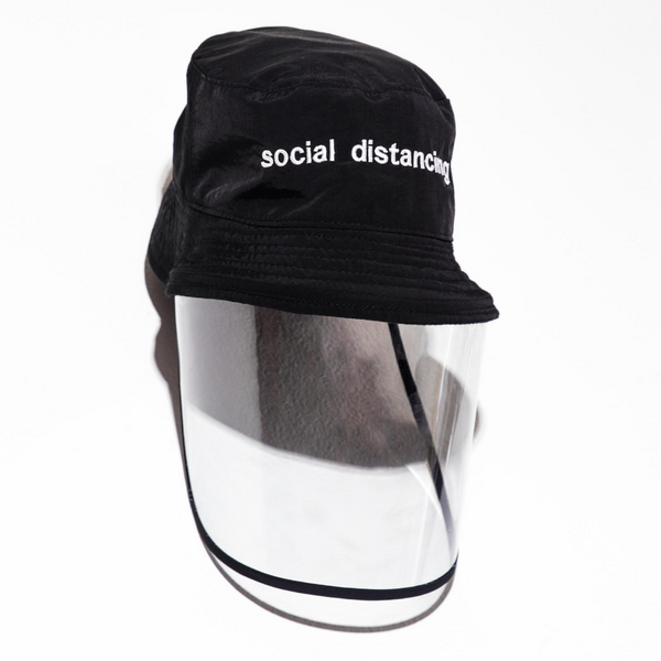 SOCIAL DISTANCING - Black Bucket Hat