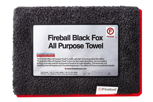Black Fox All Purpose Microfiber Towel